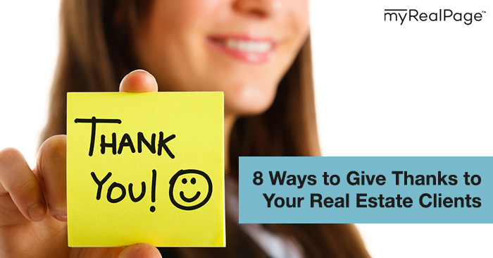 8 Ways to Give Thanks to Your Real Estate Clients