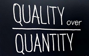 quality over quantity in social media