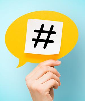 Avoid using too many hashtags