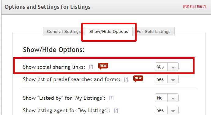 How to turn on the social sharing function for your listings
