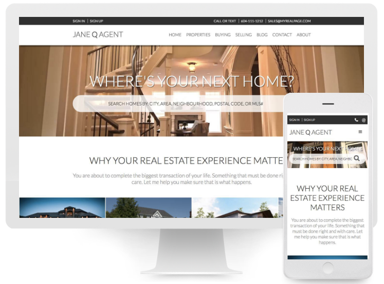 responsive website real estate